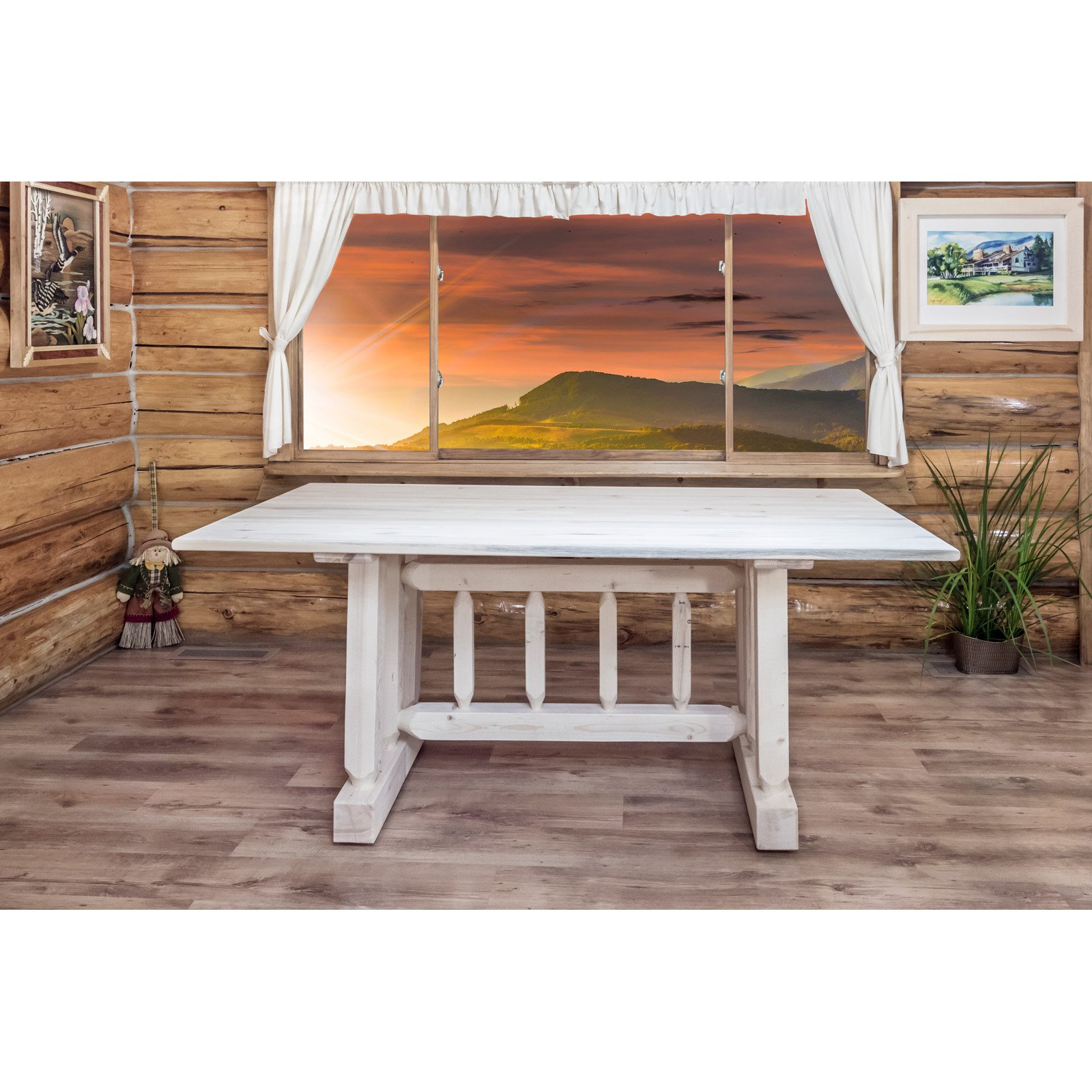 Montana Woodworks Homestead Trestle Dining Table