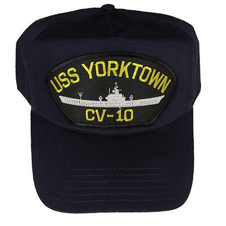 Uss Essex Class - USS YORKTOWN CV-10 HAT CAP USN NAVY SHIP ESSEX CLASS AIRCRAFT CARRIER