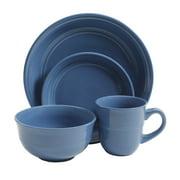 Mainstays Cobalt Rainforest 16-Piece Dinnerware Set