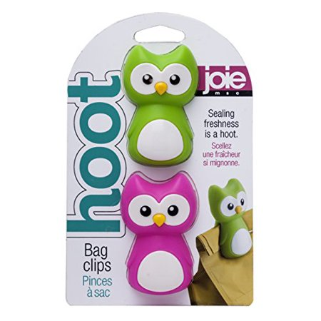 Joie Hoot Owl Themed Mini Food Storage Chip Bag Clips - 2 pack