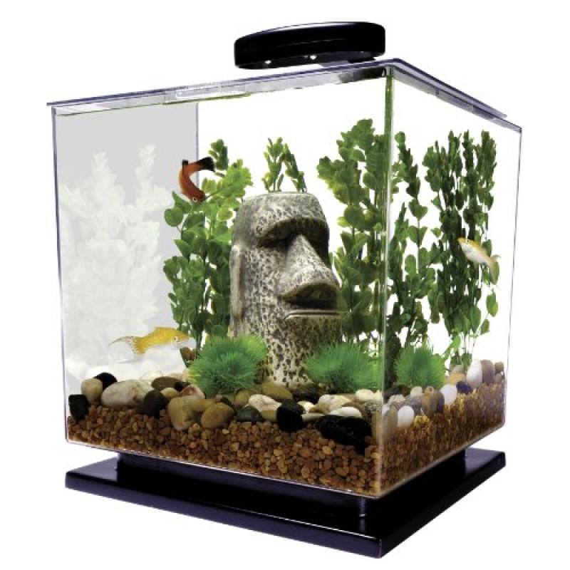 Tetra 3-Gallon Cube Shaped Aquarium with Pedestal Base and LED