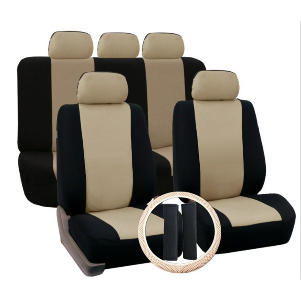 Breathable Faux Leather Car Seat Cushion Non-Rolling Up Vehicle Car Seat Cover