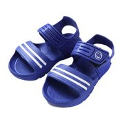 ITFABS Baby Boys Girl Beach Sandals Striped Candy Color Beach Pool Flat Shoes