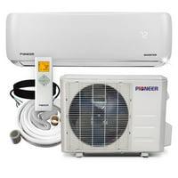 PIONEER Ductless Mini Split Inverter Heat Pump System. 12,000 BTU/h, 208-230V, 17.5 SEER