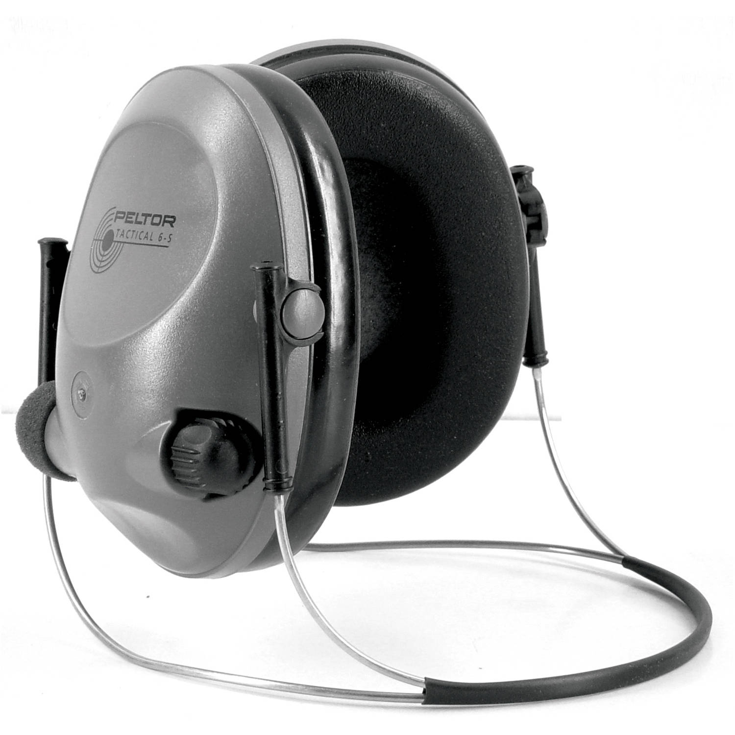 3M/Peltor Electronic 6S Earmuff, Gray, NRR 19, Behind the Head, Stereo