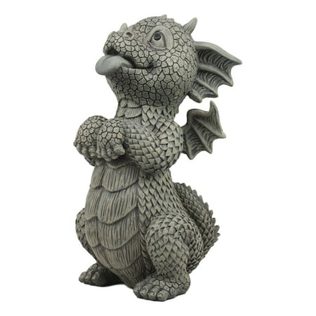 Ebros Whimsical Garden Dragon Begging For Attention Statue