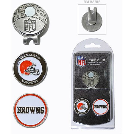 Team Golf NFL Cleveland Browns Cap Clip With 2 Golf Ball Markers