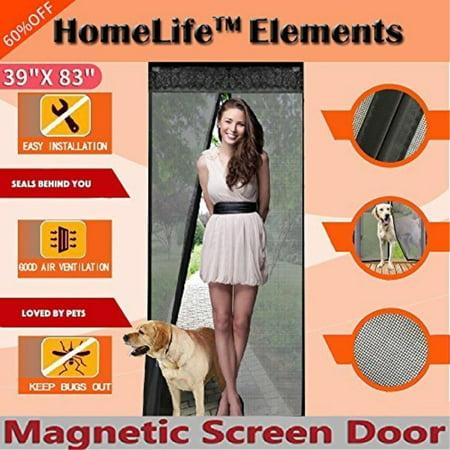 Homelife Elements Magnetic Screen Door For French Doorssliding