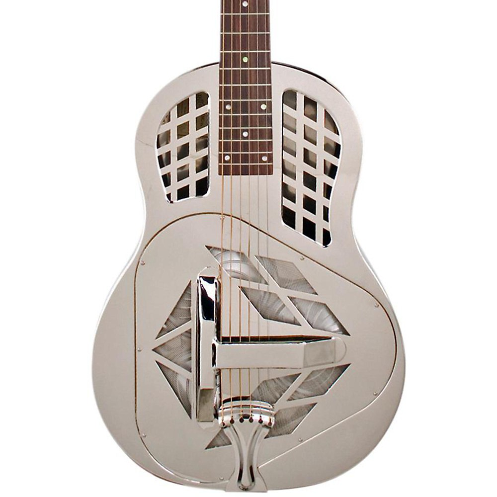 Recording King Tricone Roundneck Resonator Guitar Nickel Plated RM-991