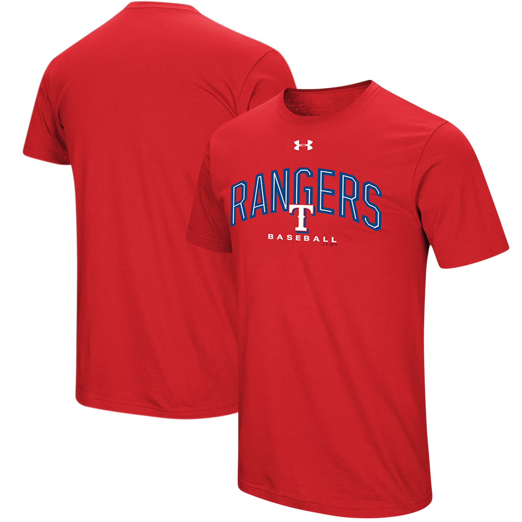 Texas Rangers Under Armour Performance Arch T-Shirt - Red