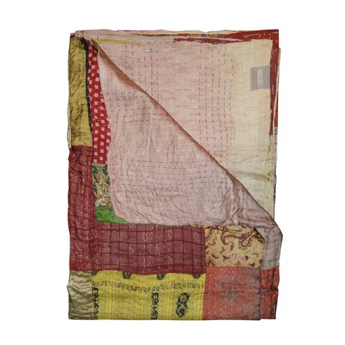 Bloomsbury Market Arguelles Eclectic Kantha 100pct Silk Throw