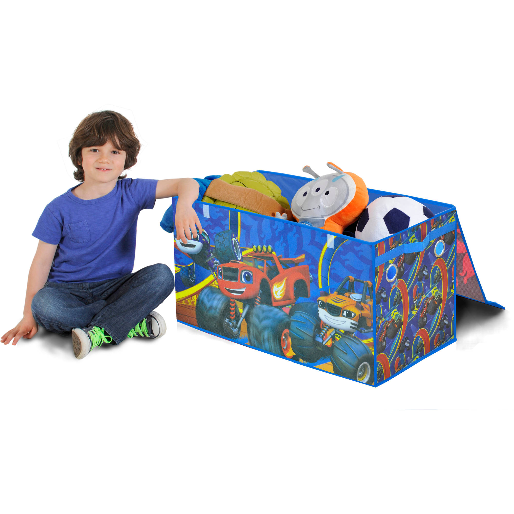Nickelodeon Blaze and The Monster Machines Oversized Soft Collapsible Storage Toy Trunk