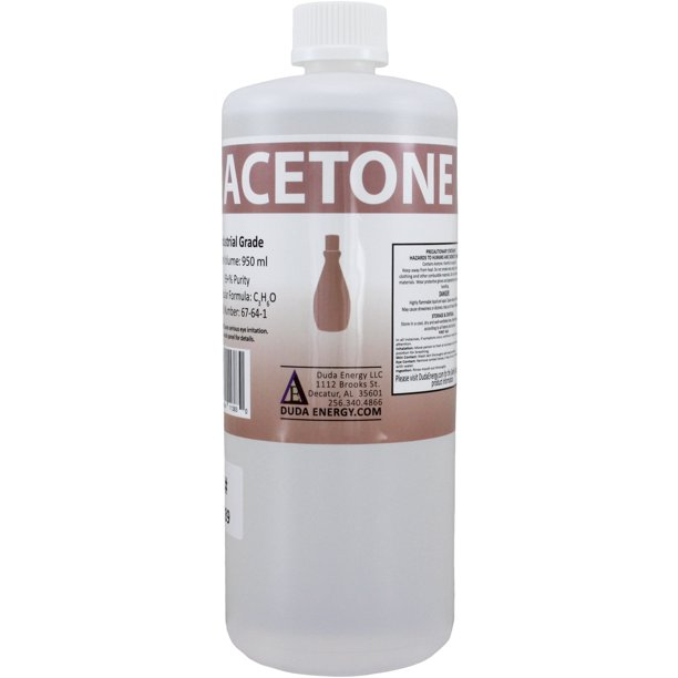 1 Quart 950ml Bottle Of Pure Acetone Concentrated Industrial Solvent Removes Paint Polish Wax Glue Adhesives Walmart Com Walmart Com