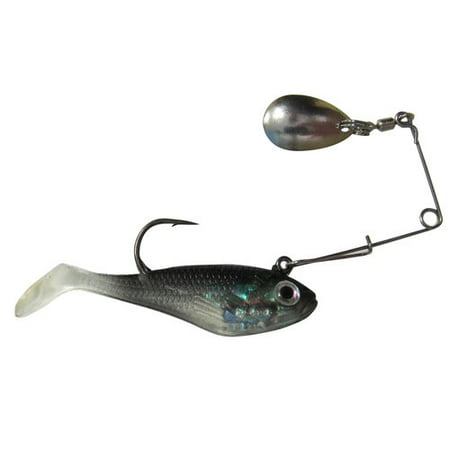 Creme lure co swim bait with spinner black for Walmart fishing spinners