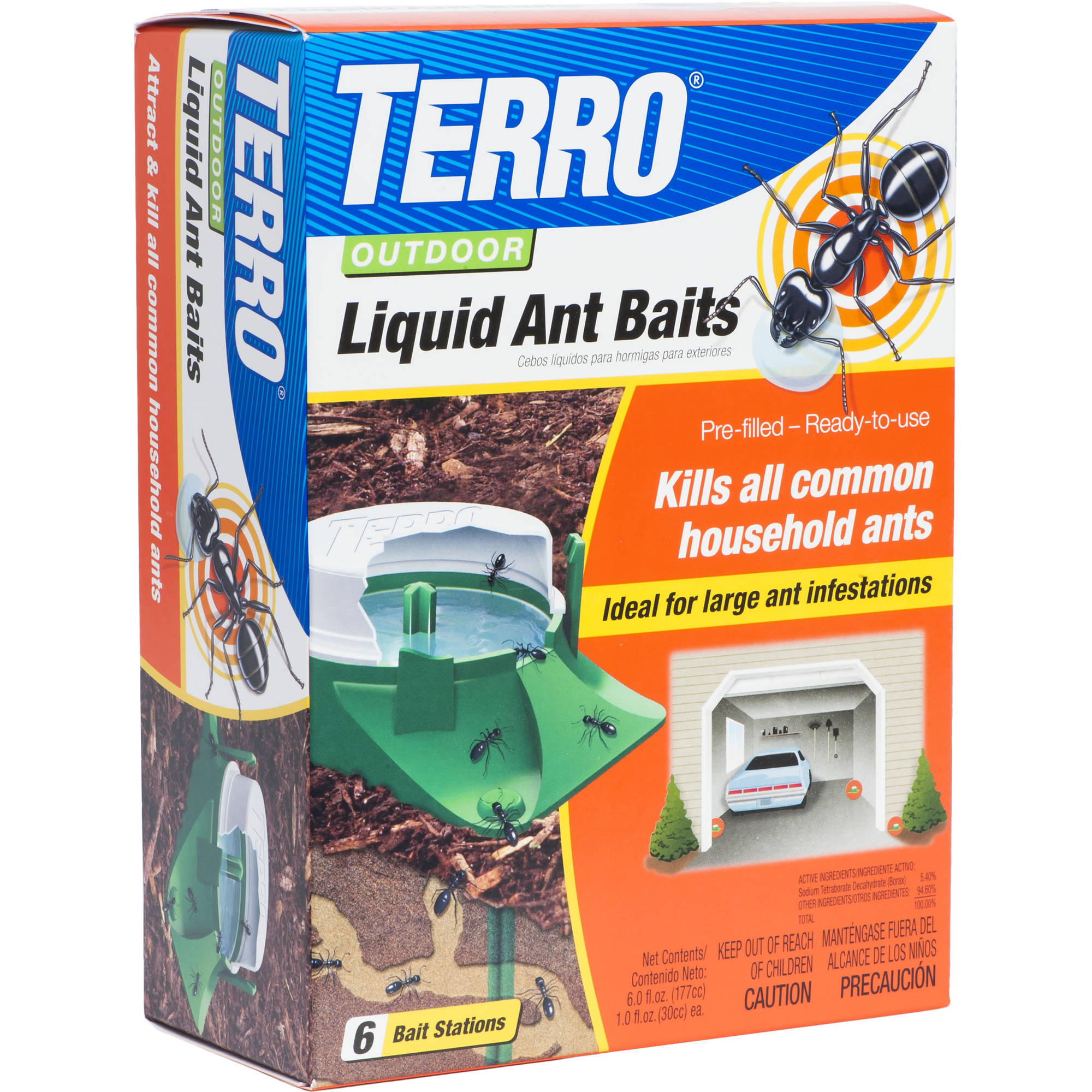 TERRO 6-Pack Outdoor Liquid Ant Baits