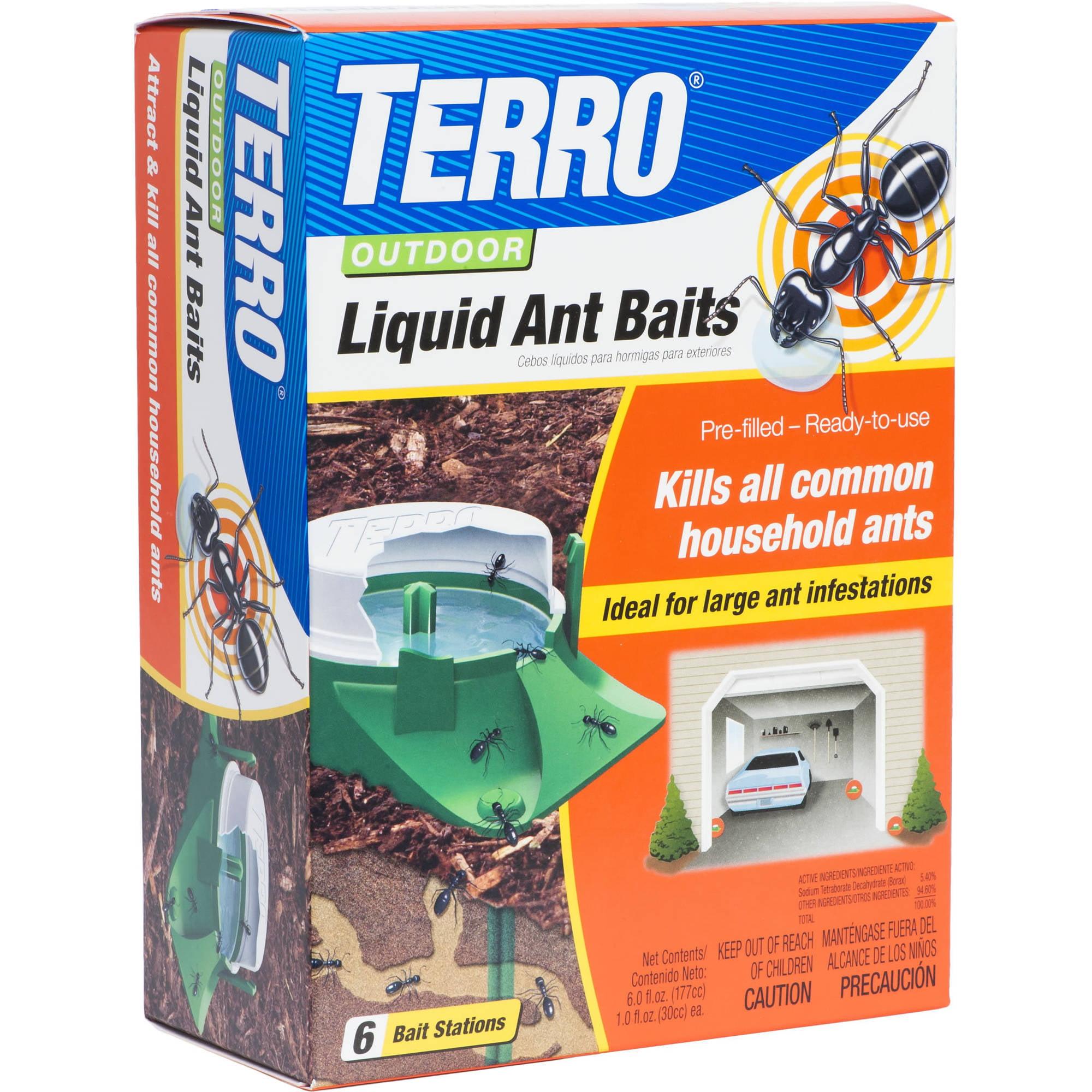 TERRO 6-Pack Outdoor Liquid Ant Baits