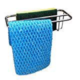 2-in-1 Kitchen Sink Caddy | Sponge + Dish Cloth Hanger Combo | Stainless Steel Kitchen Sink Organizer Holder
