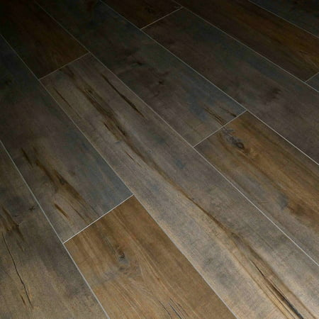 - Dekorman Latte Birch(1551) 12mm Thick Laminate Flooring, 48 in. Length x 7.72 in. Wide AC4, CARB2, EIR+Handscraped, Click-Locking V-Groove (17.943 sqft.case)
