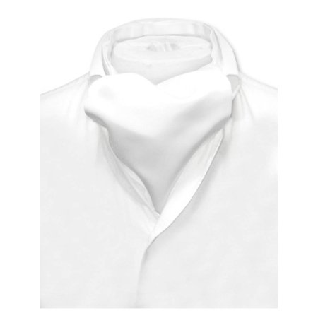 Vesuvio Napoli ASCOT Solid WHITE Color Cravat Men