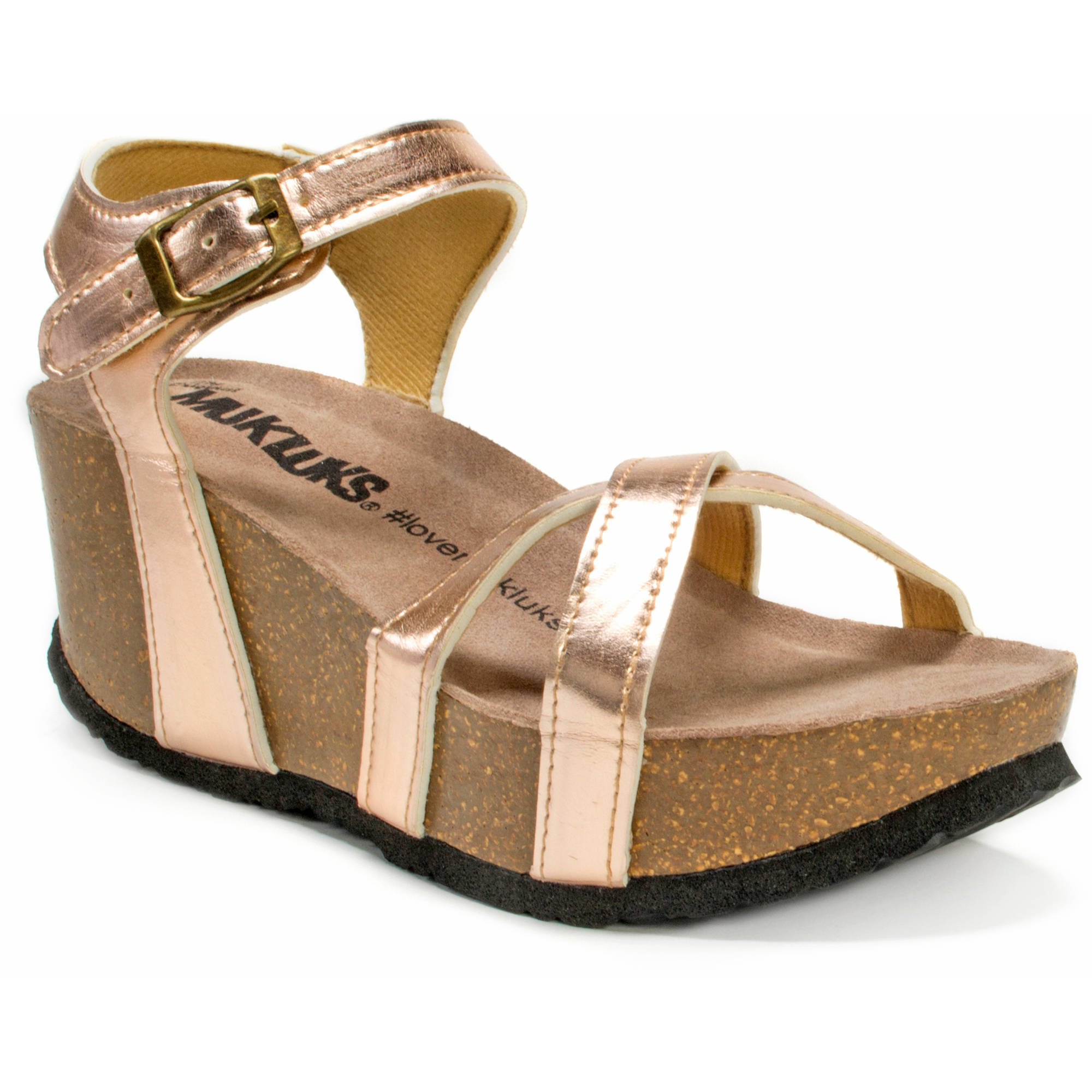 MUK LUKS Women's Lilith Wedge Sandals