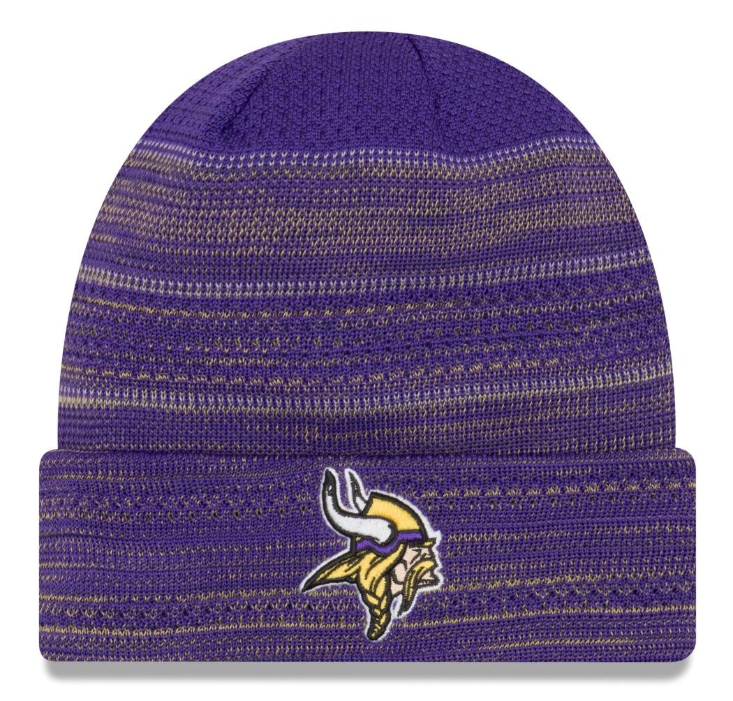 "Minnesota Vikings New Era 2017 NFL Sideline ""Cold Weather TD"" Knit Hat Purple by New Era"