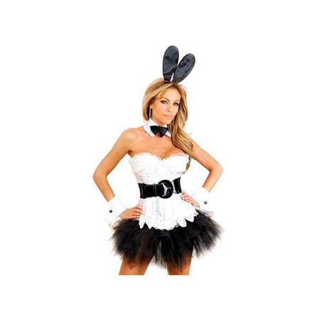 Daisy Corsets Tuxedo Honey Bunny Costume 822 Black/White - Bunny Tuxedo