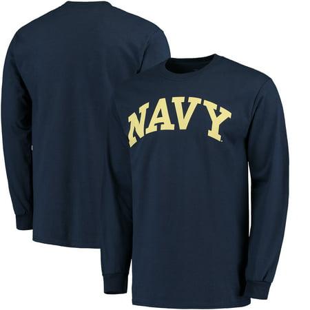 Navy Midshipmen Basic Arch Long Sleeve T-Shirt - - Navy Midshipmen Navy Arch