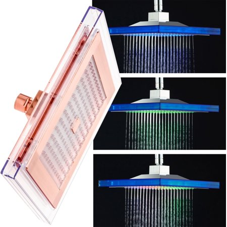 Mindful Design 9   Square Color Changing Led Rainfall Style Shower Head