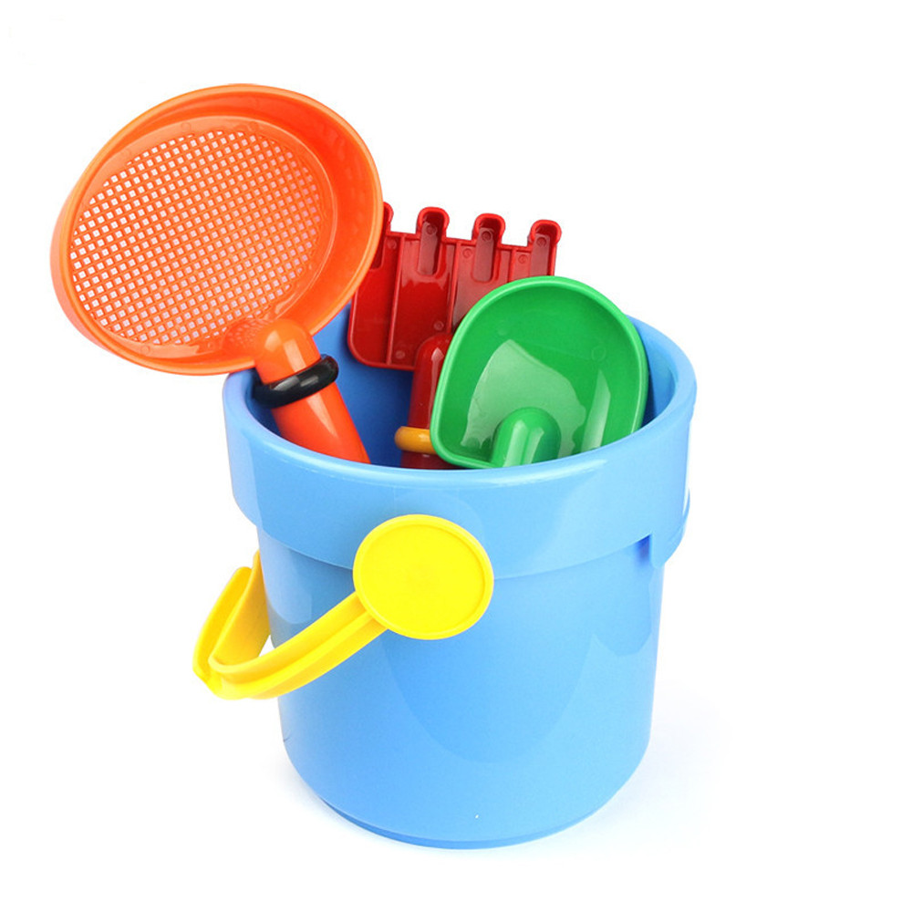 Mosunx 4PC Random Cartoon Tiny Beach Sand Tools Toys Bucket Set Children Outdoor Toys