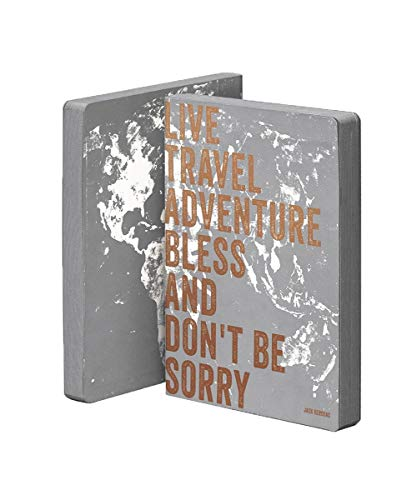Nuuna Leather Bound L Notebook Journal GRAPHIC SEVEN WORDS GREY DOT GRID