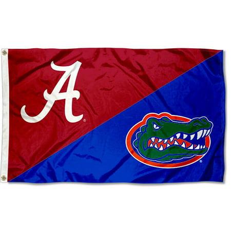 NCAA Alabama vs. Florida House Divided 3x5 Flag