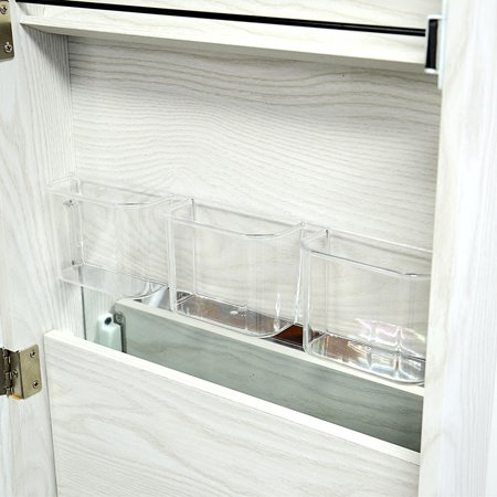 SortWise™ Jewelry Armoire Lockable Door Mounted Jewelry Cosmetic Mirror Storage Organizer - image 6 of 8