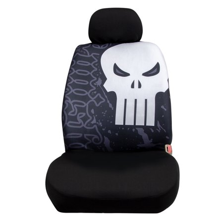 Marvel Punisher Low Back Seat Cover with Headrest (Punisher Cover)