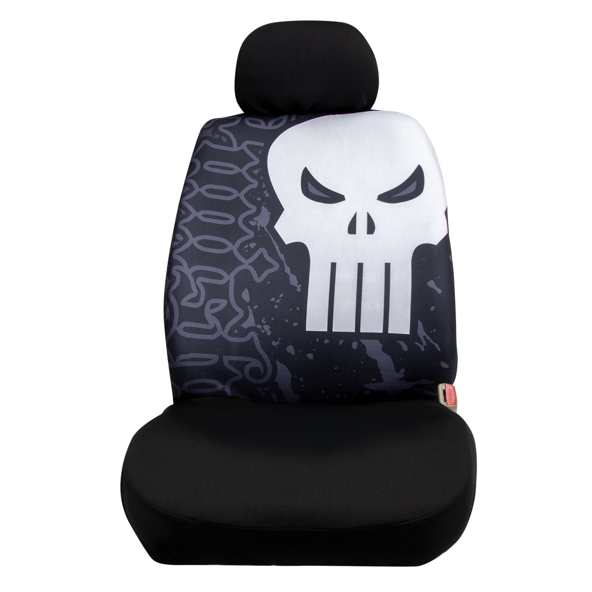 Marvel Punisher Low Back Seat Cover with Headrest Cover
