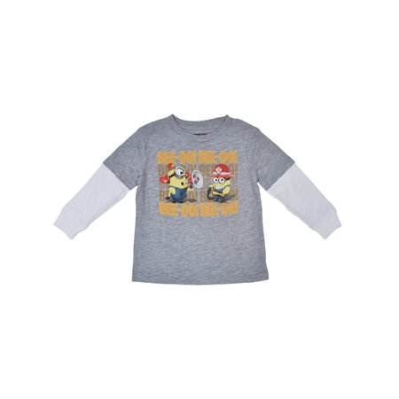 Minions Firefighter Baby Boys Long Sleeve T- Shirt - Minions Items