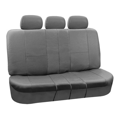 FH Group Gray Faux Leather Split Rear Bench Seat Cover.