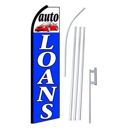 Neoplex Auto Loans Swooper Flag And Flagpole Set
