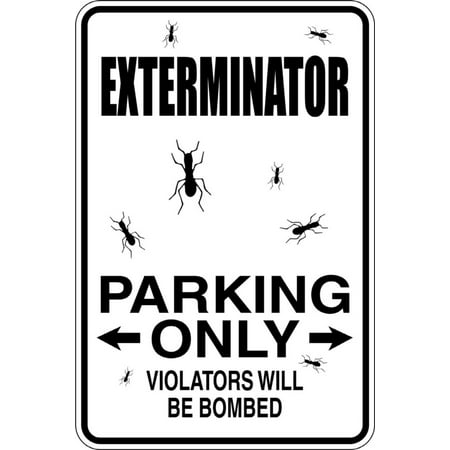 Signs Die Cut Wall Border - Exterminator -Parking Signs - Picture Art - Peel & Stick Vinyl Wall Decal Sticker Size : 9 Inches X 18 Inches