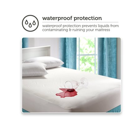 Mainstays Fitted Vinyl Waterproof Mattress Protector
