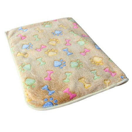 JOYFELL Warm Pet Mat Bone Print Cat Dog Puppy Fleece Soft Blanket Bed Cushion