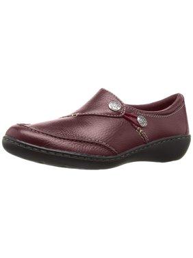 Clarks 26063066: Women's Ashland Lane Q Burgundy Slip-On Loafer (7 B(M) US Women)