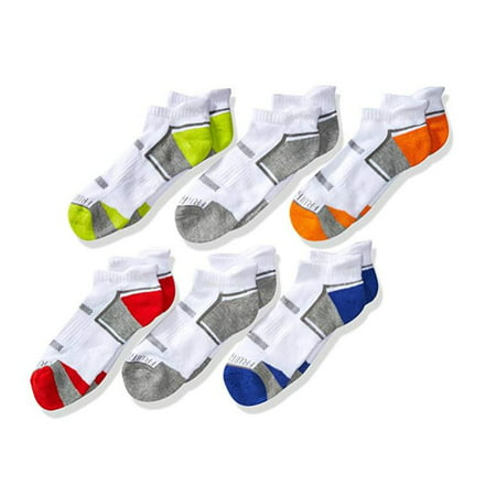Everyday Active Cushioned Low Cut Tab Socks with Arch Support, 6 Pairs (Big Boys)