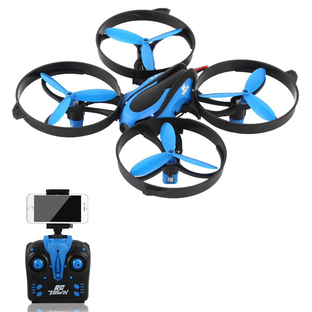 HD FPV Camera RC Drone Smartphone Controlled RC Quadcopter Altitude Hold  Headless 3D 360° Flips & Rolls One-key Return 4 Channel 2 4GHz 6-Gyro