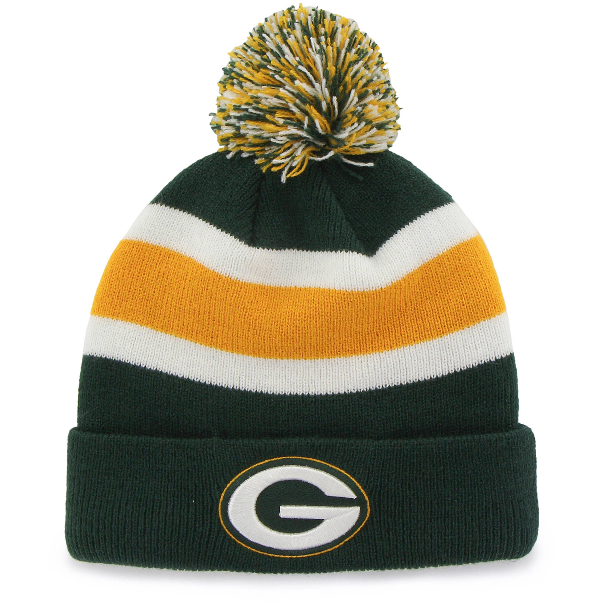 NFL Green Bay Packers Breakaway Knit Beanie with Pom by Fan Favorite by 47 Brand