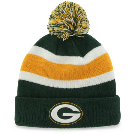NFL Fan Favorite - Breakaway Beanie with Pom, Green Bay (Packers Rhinestone)