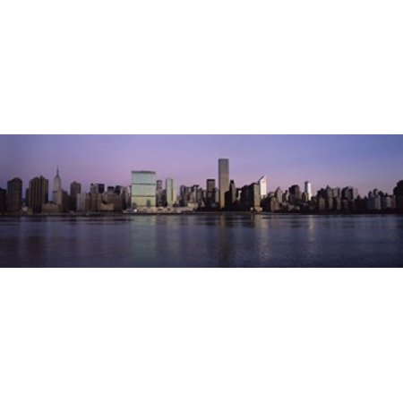 Buildings viewed from Queens United Nations Secretariat Building Midtown Manhattan New York City New York State USA Canvas Art - Panoramic Images (18 x 6) (Halloween Usa Midtown)