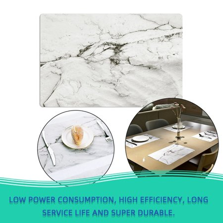 2PCS/SET Marble Pattern Anti-Slip Heat Insulated PVC Dining Table Kitchen Coffee Tea Place Mat Tableware Pad Mat - image 1 of 6