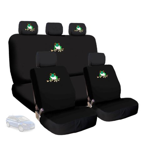 New Deluxe Frog Logo Car Seat Covers And Headrest Covers Accessory Universal Fit Gift Set Shipping Included
