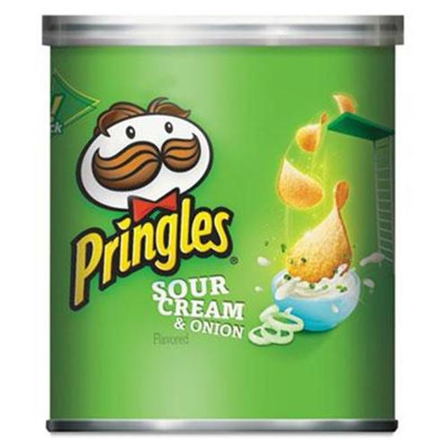 Kellogg 84715 Potato Chips, Sour Cream & Onion, 1.41oz Can, 36/Carton