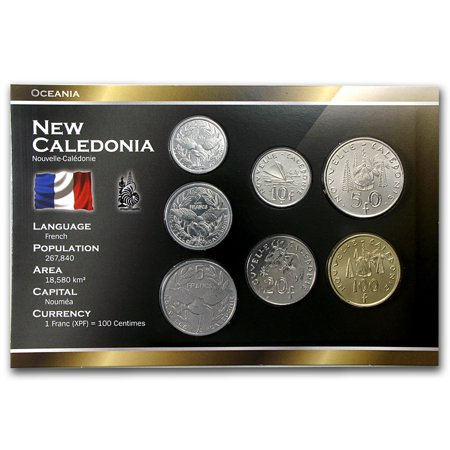 2000-2013 New Caledonia 1-100 Francs Coin Set Unc ()